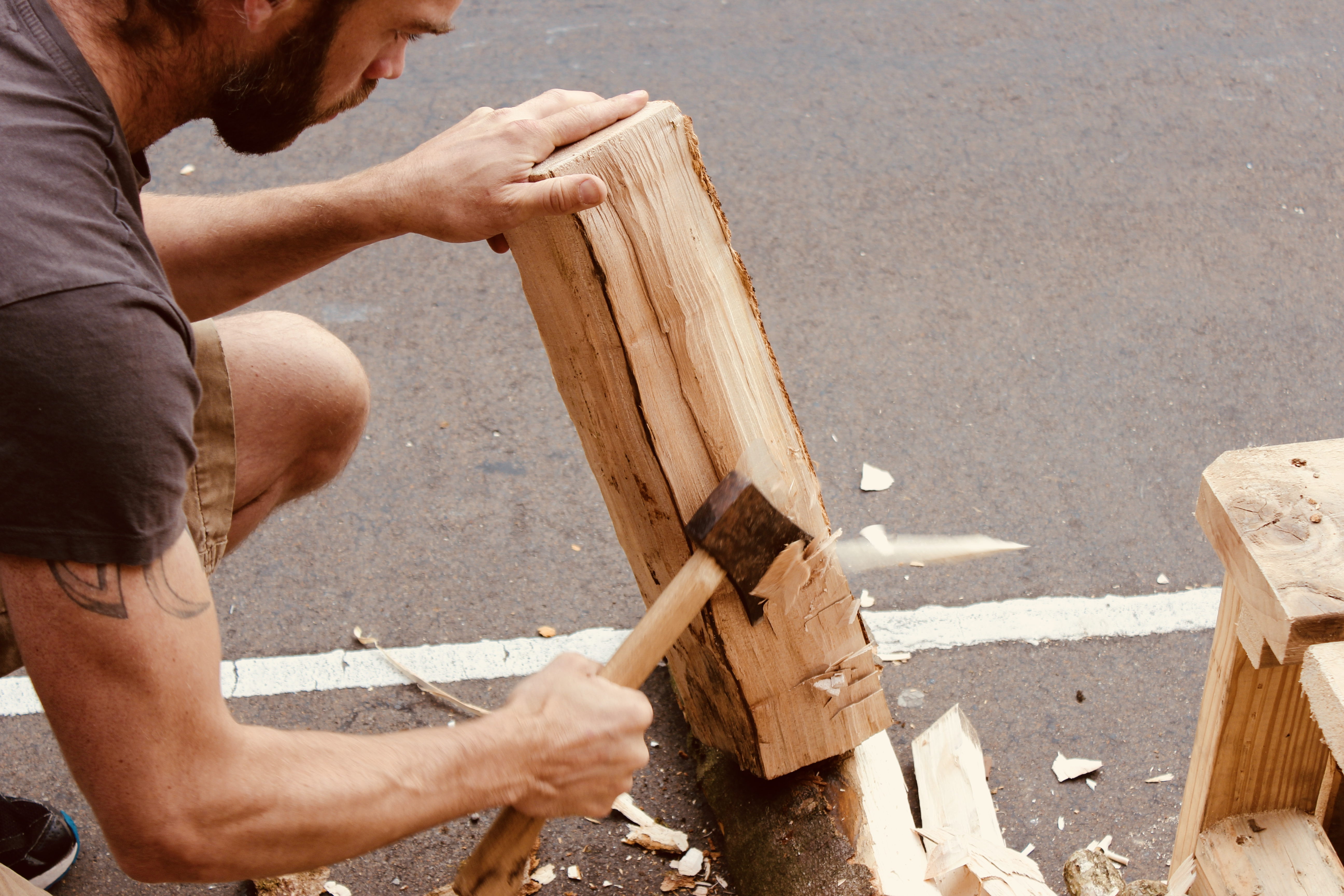 3 day green wood stool making workshop with master craftsman
